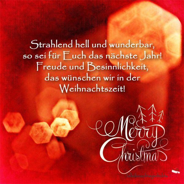 Weihnachtswünsche und Weihnachtsgrüße