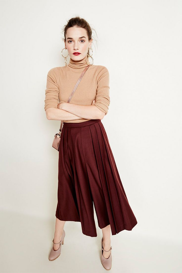 Month of Style / Day 6: Pair nude shades with deep burgundy for a perfect fall look.
