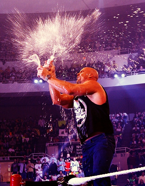 Stone Cold Steve Austin, with that beer