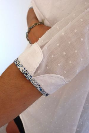 Turn Back Elbow Cuff with Contrasting Edging ....