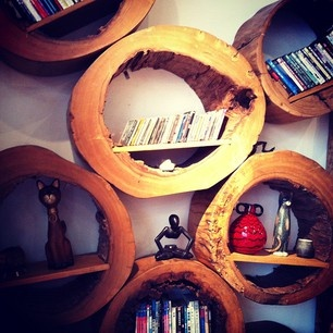 logs - perfect shelves for a woodland room