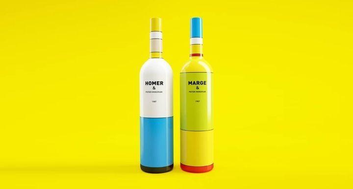WINE, OR MAYBE NOT? IL PACKAGING ISPIRATO DAI SIMPSON E DA PIET MONDRIAN