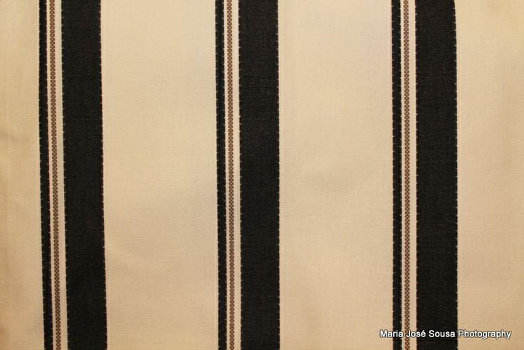 Saco de Praia (riscas pretas) - 18€ - 45 x 66 cm
