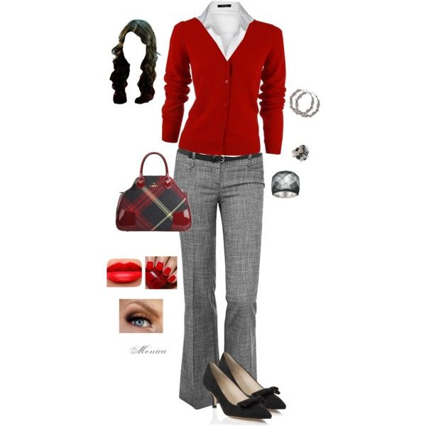 #business #casual #farbberatung #stilberatung #styling #outfits Grey & Red