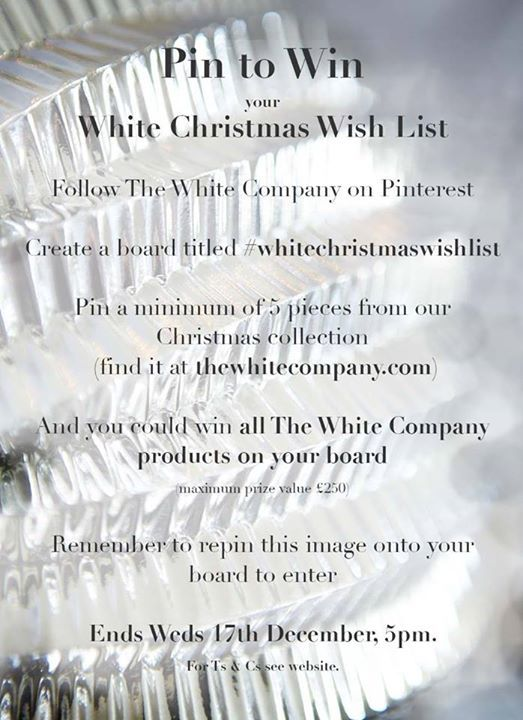 Thanks for the Pinning Competition. #WhiteChristmasWishlist