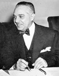 Rafael Leonidas Trujillo Molina, nicknamed El Jefe, ruled as a dictator of the Dominican Republic from 1930 until his assassination in 1961. His 30 years in power, to Dominicans known as the Trujillo Era, is considered one of the bloodiest ever in the Americas, as well as a time of a classic personality cult. It has been estimated that Trujillo's authoritarian rule was responsible for the death of more than 50,000 people.