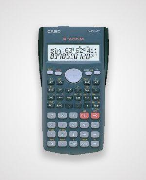 CASİO FX-350 MS BİLİMSEL HESAP MAKİNASI  --  Özellikler: 240 Fonksiyon S-V.P.A.M 10+2 Hane Gerçek Cebir Mantığı Açı birimi (DEG/RAD/GRA) Açı birimi çevirimi Trigonometri Hiperbol Logaritma, cebir Koordinat Dönüştürme Kesir Hesabı Kombinasyon ve Permutasyon istatistik (standart sapma,regrasyon analizi) 9 Değişkenli hafıza Tekrar gösterim işlevi