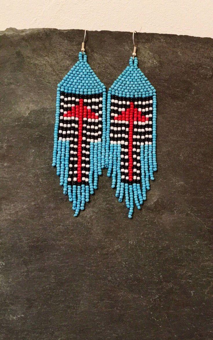 Orecchini di turchese perline freccia spalla duster nativo