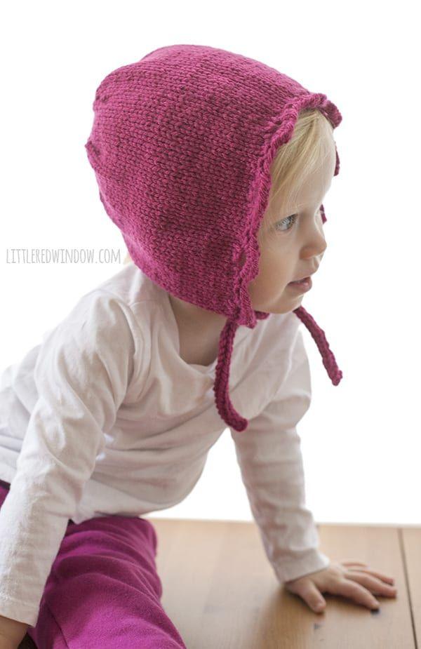 611c80863 Scalloped Edge Bonnet Knitting Pattern for newborn, baby and toddler ...