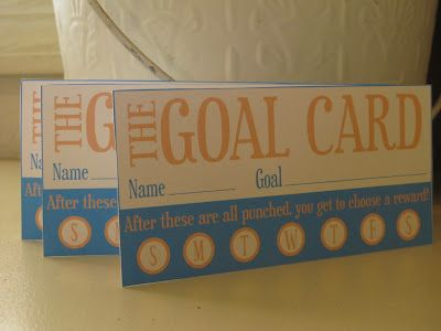 Goal punch card: Good Ideas, Goals Cards, Student, For Kids, Kid Chores, Fun Ideas, Kids Eq, Punch Cards