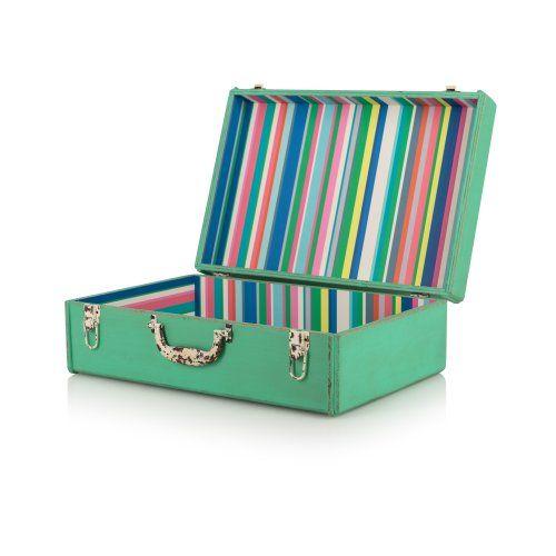 Medium Tropical Decorative Storage Suitcase