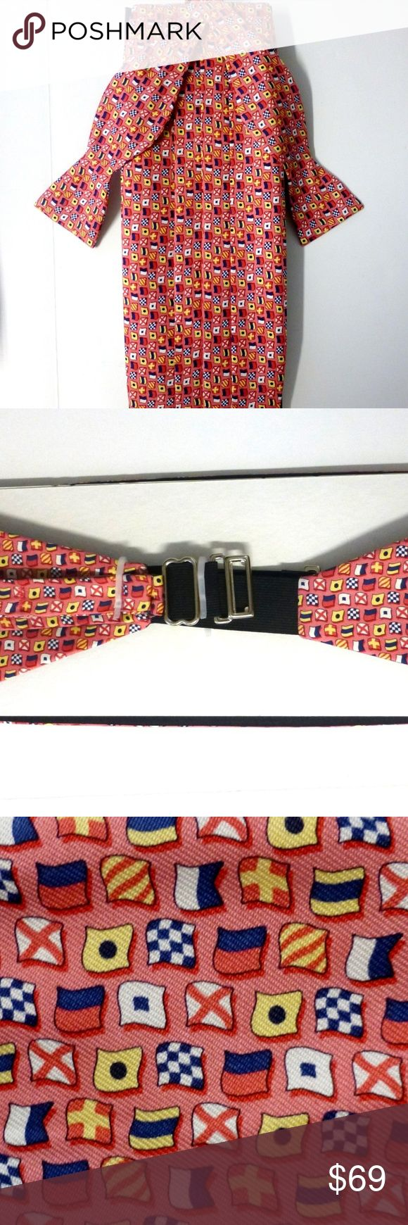 Vineyard Vines Silk Bow Tie & Cumberbund Set Nwt Nwt