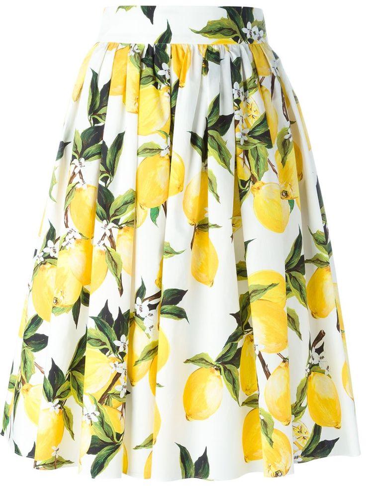 DOLCE & GABBANA  lemon print skirt                                                                                                                                                                                 More