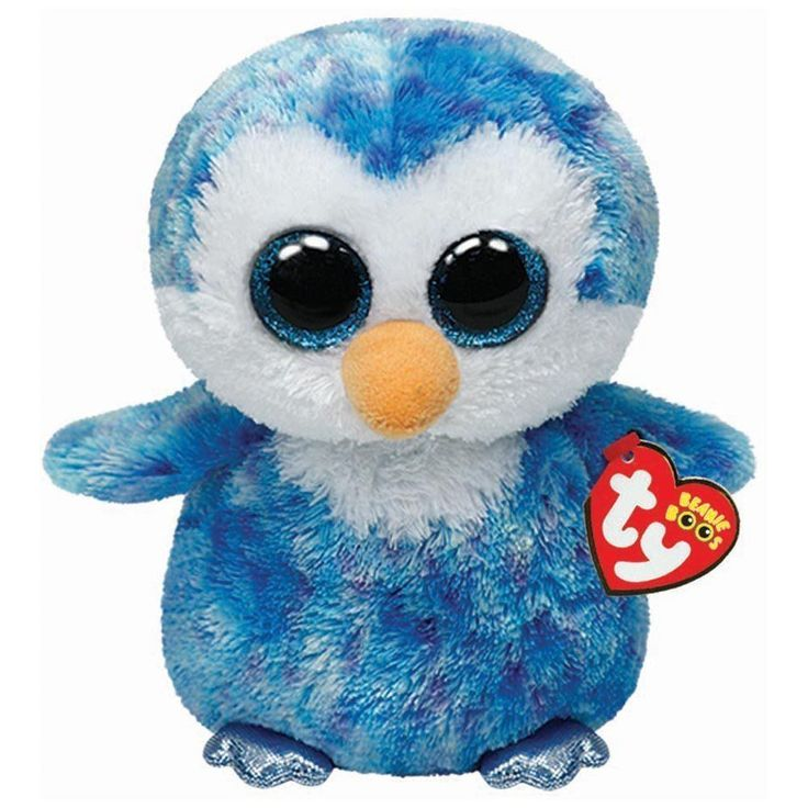 Ty Ice Cube the Blue Penguin Beanie Boos Stuffed Plush Toy
