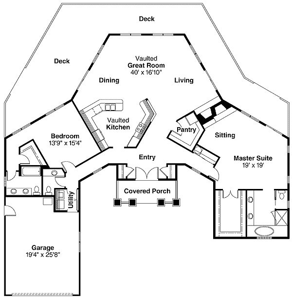 1000 images about empty nester house plan ideas on pinterest for Best empty nester house plans