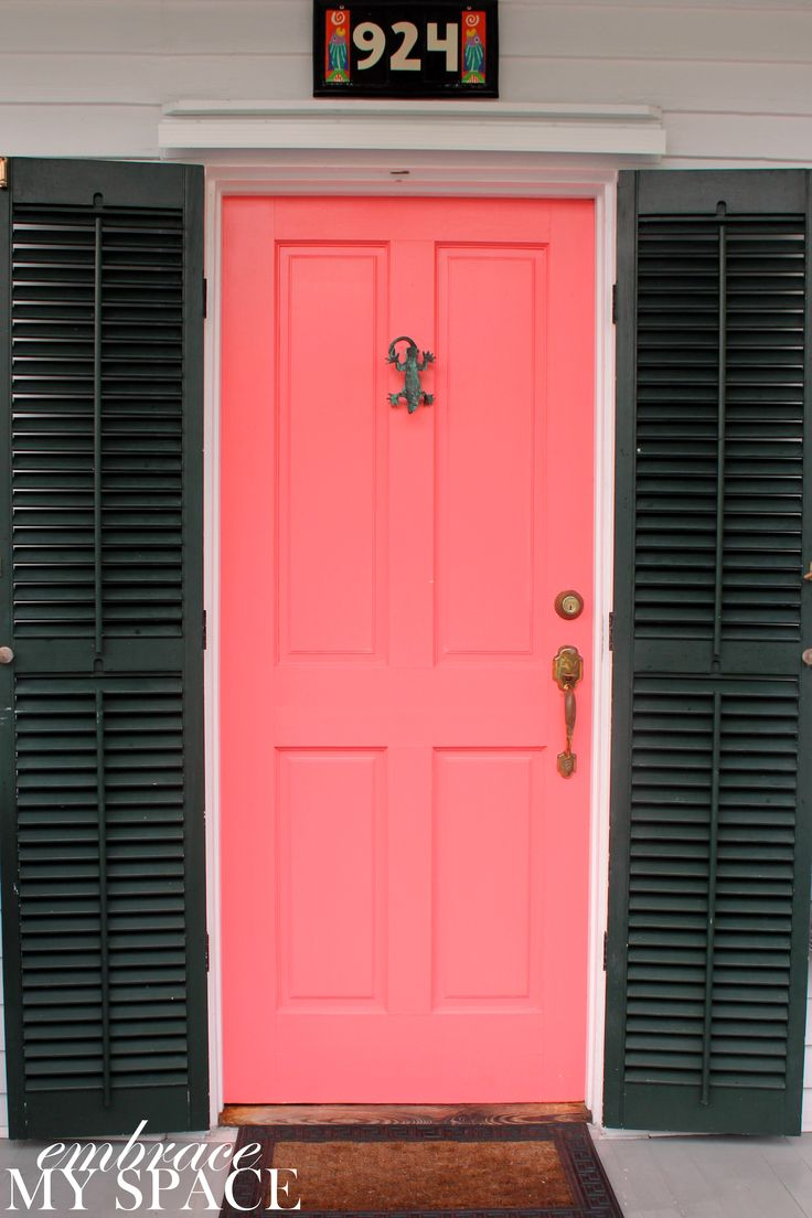Embrace My Space:  Key West Front Doors #pink front door