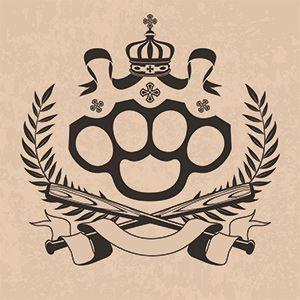 gangsta brass knuckle tattoo