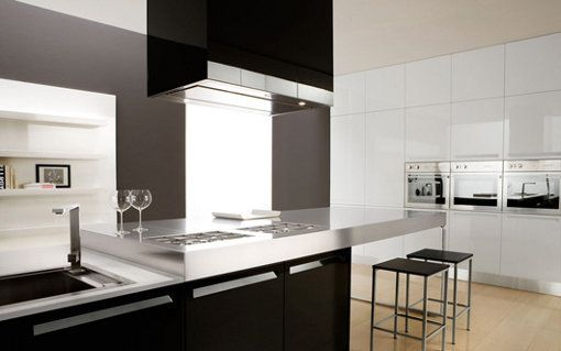 Modern Black and White Kitchen Interior Futura Cucine Photo 5