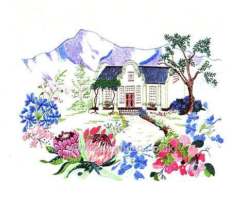 Buy Cape Dutch Garden Embroidery Kit Online at www.sewandso.co.uk