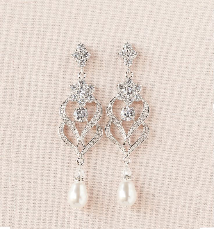 214 best Wedding Day Jewelry images on Pinterest Bridal earrings