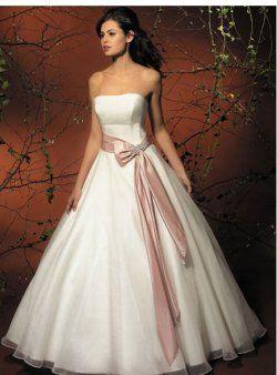 bustier ceinture pas cher robes de mariée de couleur soufflé