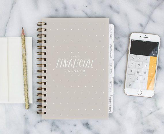 Planificateur financier – 12 mois remplir le planificateur Date pour sauver, budget et planification ahead (avoine)