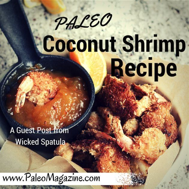 Get this delicious Paleo coconut shrimp recipe. Photos and printable instructions available.