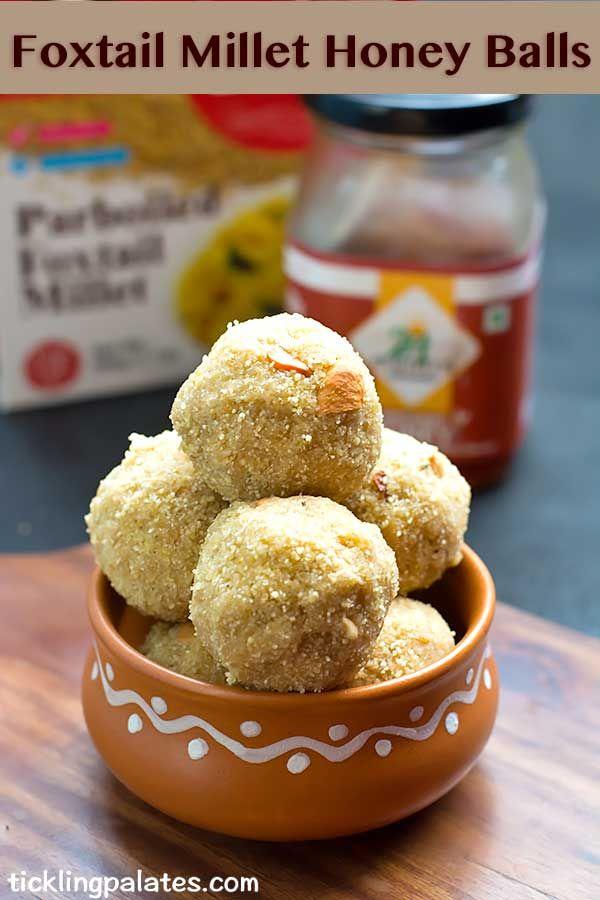 Foxtail #millet honey balls  #snack #glutenfree
