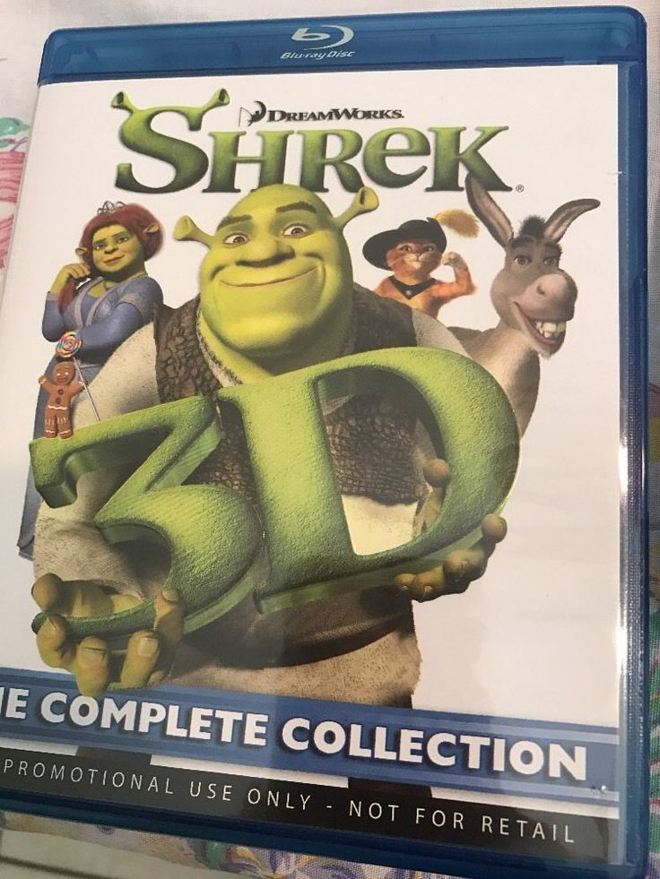 Shrek 3D- The Complete Collection 4 Disk Blu-ray Set  | eBay
