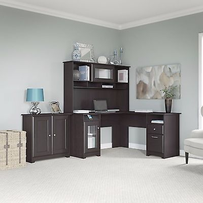 Office Desk With Hutch L Shaped Home Office Furniture Collection Storage Cabinet