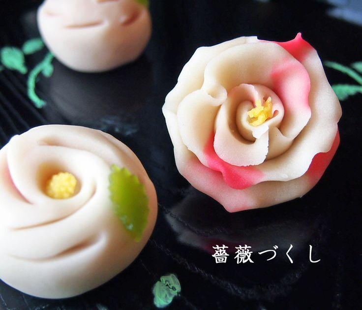 Rose wagashi