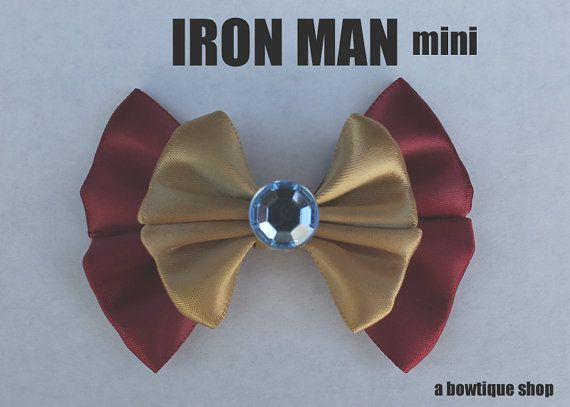 Hey, I found this really awesome Etsy listing at http://www.etsy.com/listing/118275471/iron-man-mini-hair-bow
