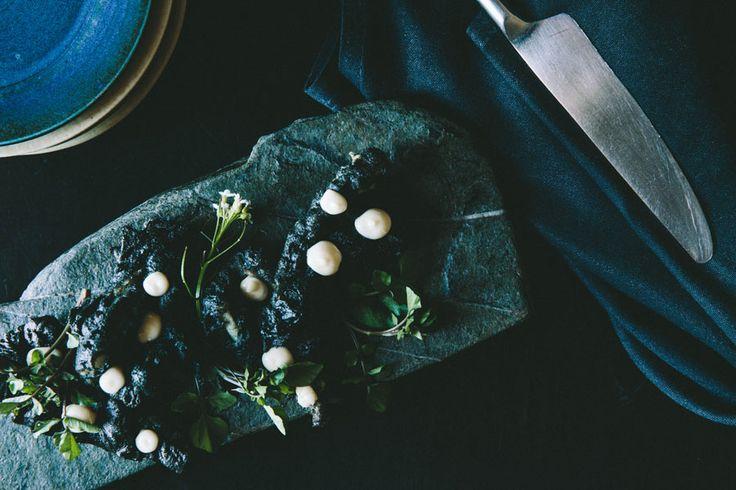 Try some Squid-Ink Tempura Battered Calamari with lemon aioli and wild watercress