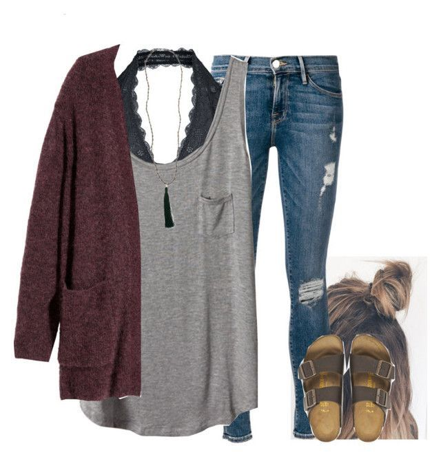 Love the simple tank and sweater combo.