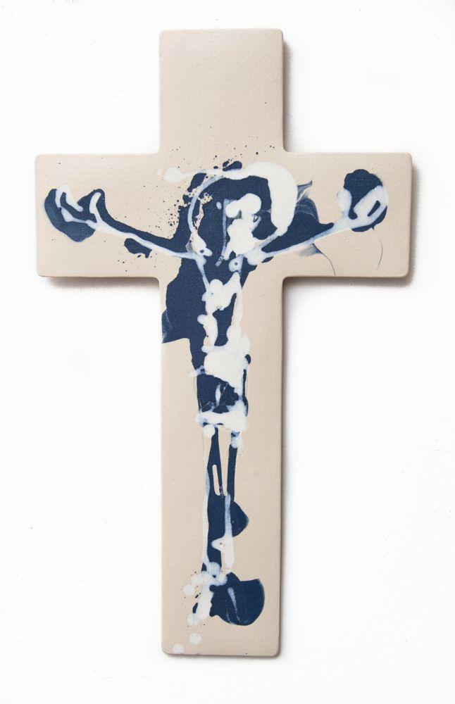 porcelain cross, christian art