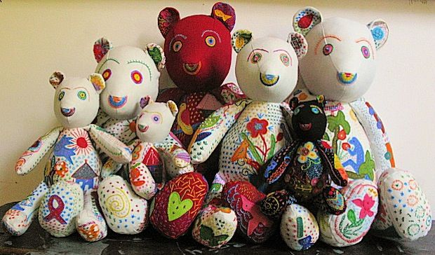 Heartworks stitching club - South African teddy bears