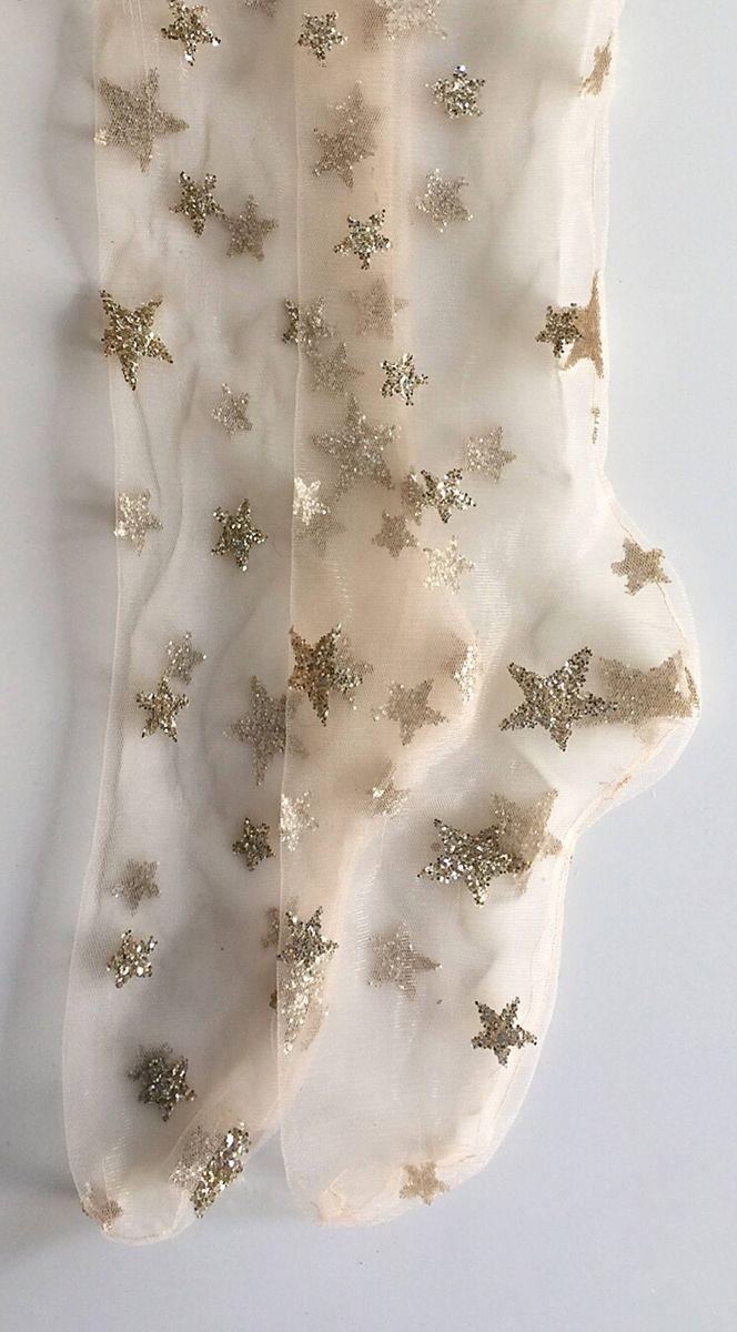 glitter star socks