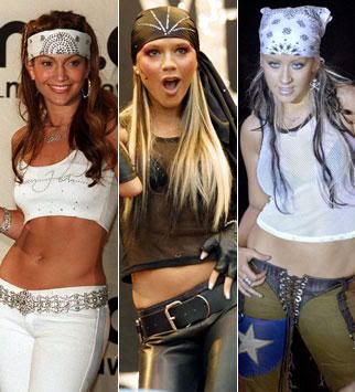 God I hated the early 2000s head scarfs, low waist jeans