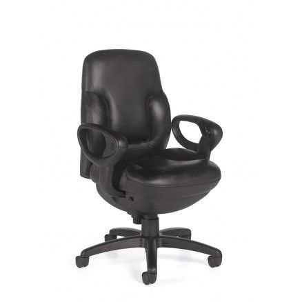 Global Concorde 2425 Mid-back 24 HR office executive chair - Contract leather - Black D540