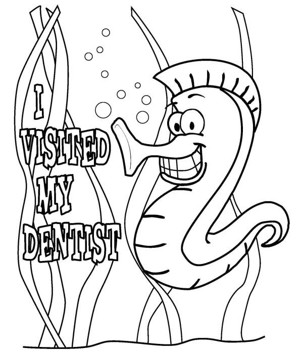 visited dentist coloring page for kids