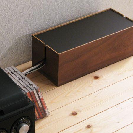 1,000 件以上の 「収納ケーブルボックス」のおしゃれアイデアまとめ ... ウォールナット コードボックス セス Lサイズ(ケーブルボックス/The Cable Box/コードリール