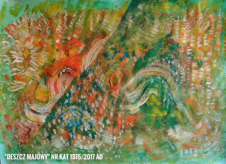 Malarstwo Wandy Murat  Obraz  o rozm. 50 x 70 cm. Akryl na kartonie Tytuł i nr. Katalogu na dole obrazu