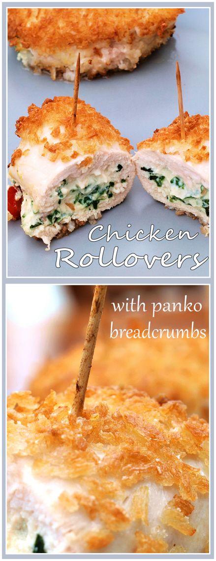 Tasty Chicken Rollovers with Panko Breadcrumbs.