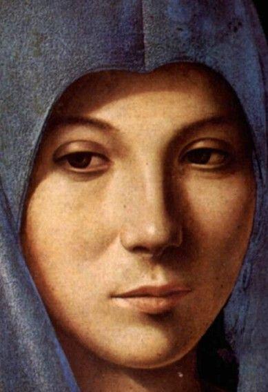 Vierge de l'Annonciation Antonello da Messina 1475 (detail)