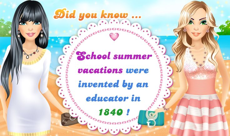 Let there be lots of #fabulous #summer vacations! ***  The best @girlgames: http://www.girlgames4u.com/ ✿ ✿ ✿