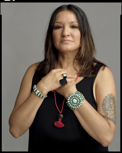 I always tell people that I became a writer not because I went to school but because my mother took me to the library. I wanted to become a writer so I could see my name in the card catalog. (photo of Sandra Cisneros, taken by Timothy Greenfield-Sanders)
