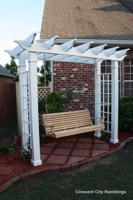 Garden Pergola Swing...the perfect gift!