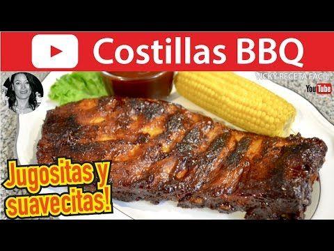 CÓMO HACER COSTILLAS A LA BBQ | Vicky Receta Facil - YouTube
