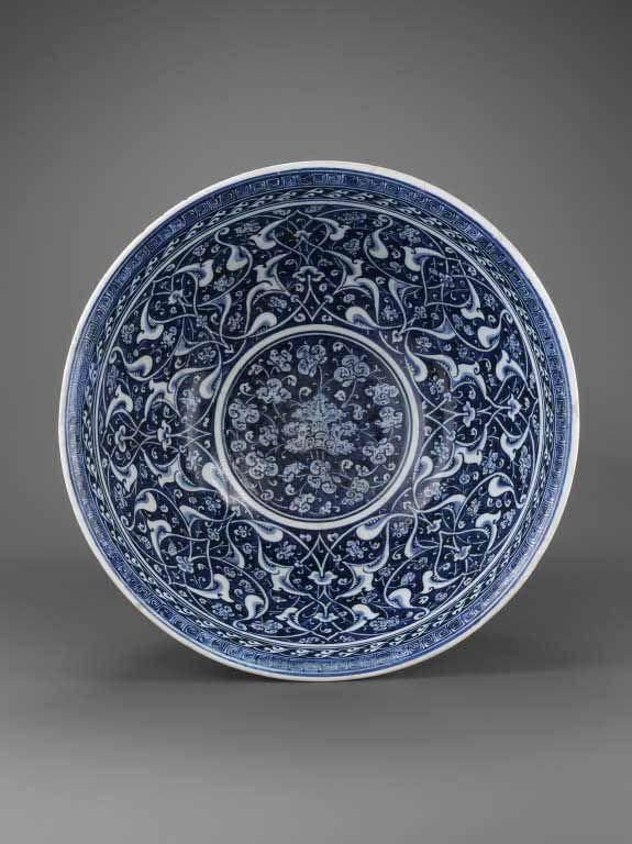 Musée du Louvre,Coupe au décor rumi-hatayi vers 1480 Turquie, Iznik