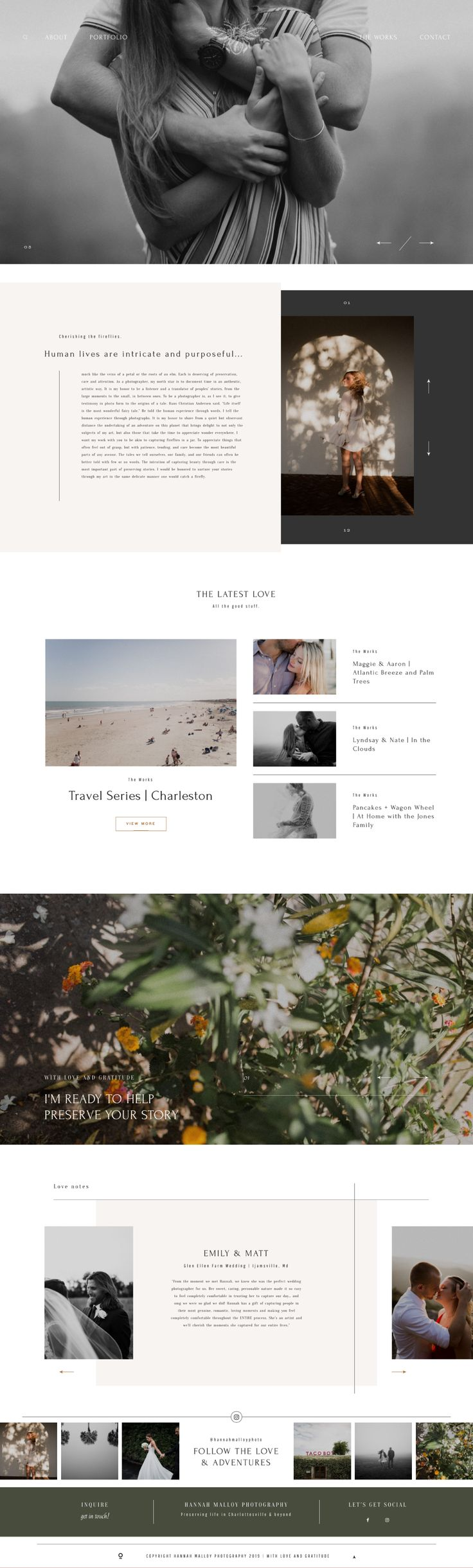 Wedding Photography Website Design – Milea WordPress Theme by Flothemes